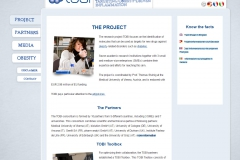 "TOBI website page ""THE PROJECT"""